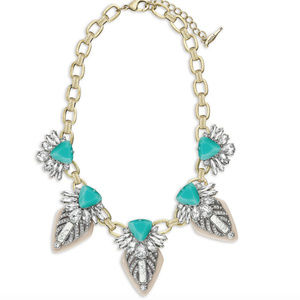 LIKE NEW Tropical Palm Statement Necklace